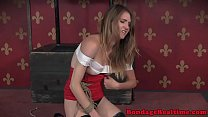 Disobedient sub punished with clover clamps