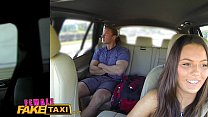 Female Fake Taxi Businessman strikes sexual deal with horny driver