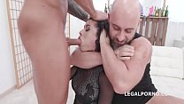 Manhandle Stacy Bloom 4on1 Rough Sex Balls Deep Anal, Gapes, DAP and Swallow GIO1423