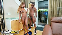 BANGBROS - Slim Poke's Step Sister Evi Rei Spies On Him Jerking Off