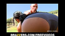 Natural Asian babe Jayden Lee rides her man's big-dick