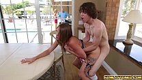 Kristen Lee rides her step bros patriotic big cock