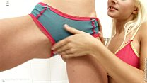 Hot fingering in the bathroom by Sapphic Erotica with Yvette and Nichol