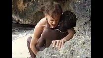 African teen gets anal fucked on the beach