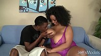 Big boobed black girl Bettie Blac fucked good