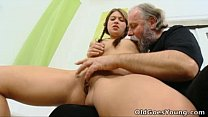 Old Goes Young - Anna has her pussy eaten out by older man