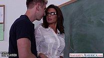 Stockinged sex teacher Veronica Avluv fuck in class