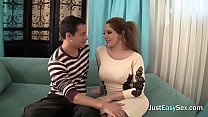 Busty redhead gets her pussy fucked hard