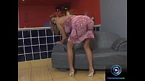 Exotic blonde Mandy Bright bend over and masturbating