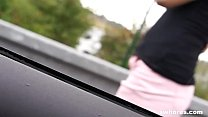 Cheap blonde street whore banged in the car SWhores.com