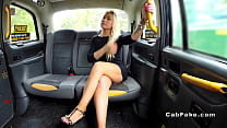 Hot blonde gets anal sex in fake taxi