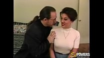 Handsome vintage babe is eager to bounce on rock solid cock