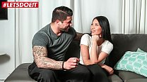 LETSDOEIT - Hot Brunette Teen Fucked To Climax On The Casting Couch