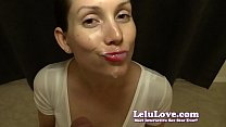 She changes lipsticks THREE times sucking YOUR cock to facial - Lelu Love