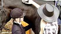 Aneta and Mya go down on each other at the horse ranch by Sapphic Erotica