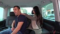 Thai massage in driving car turns to wild hardcore fuck
