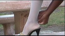 Ebony in White