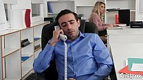 Natural Tits Carmen Caliente Gets Fucked In The Office By Her Stepbrother