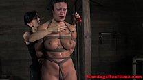 BDSM sub Penny Barber clit shocked