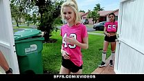 BFFS - Horny Soccer Girls (Aspen Celeste) Fucked by Trainers