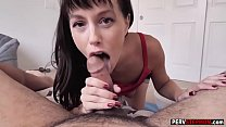 Horny stepmom cleaned stepsons cock with her mouth