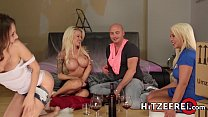 HITZEFREI Orgy with three beautiful busty German ladies