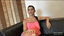 Skinny amateur french milf ass hammered with cum in mouth for her casting couch