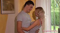 young blonde teen girl just 18 years of age in love