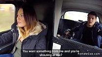 Burglar fucks hot brunette cab driver