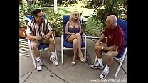Swinger Threesome Outside In The Pool