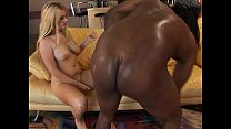 Massive black cock for the blond ho