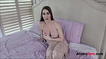 Brunette MILF MOM teaches her SON to treat a girl- Brianna Rose
