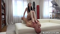 Pale babe Mia Evans gets her pussy pounded by Rocco Siffredi