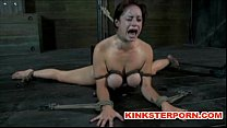 BDSM - Suspension, bonded and wide spread legs, ass and cunt tortured