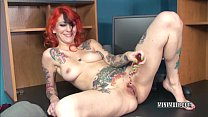 Tattooed MILF Scarlett Storm stuffs her twat with a toy