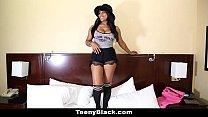 TeenyBlack - Busty Canadian Ebony (Jenna Foxx) Porn Debut