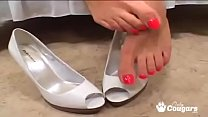 Kimberly Kole Has Her Sexy Feet Fucked And Covered With Hot Cum