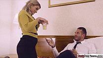 Stewardess squirts after getting analed