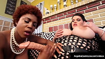 Bodacious Booties Angelina Castro & Maserati StrapOn Fuck Their Thick Twats