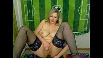 Blonde Russian masturbating on webcam - annasexcam.com