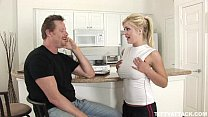 busty blonde Andi Anderson fucks the guy who helped her