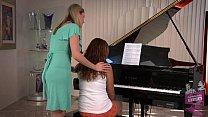 Samantha Ryan and Allie Haze at the Piano