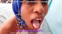 Dick Sucking Ebony Teen Compilation StepDad Blowjob Facial Step Daughter Eat Cum
