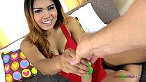 Thai teen hooker milks every drop of jizz from my balls