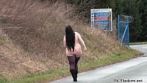 Chubby amateurs public nudity and bbw Emmas homemade exhibitionism showing pussy