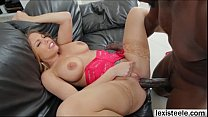 Shapely blonde Brittney gets ass rammed by a black dick