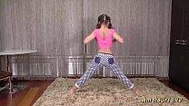 cute flexi teen stretching lesson