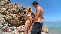 Spanish busty babe Eli Tetona fucked at the beach