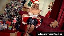 XXXMas! Busty Milf Julia Ann Dildo Fucks Waiting For Santa!|v