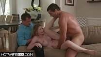 Husband Watches Sexy Big Tit Wife Bunny Fuck On Table